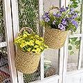 La Jolíe Muse Hängekörbe für die Wand, Übertöpfe 2er Set - Garten Deko gewebte Seegras Aufbewahrungskörbe von La Jolíe Muse - Du und dein Garten