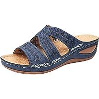 RXLLDOLY Pantoffeln Damen Sandalen Slippers Schuhe Bequeme Orthopädische Pantolette Hausschuhe rutschfest Sommer…