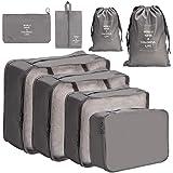 Meowoo Organizer valigie Organizer Viaggio organizer Valigia, Cubo di Viaggio 8 pezzi viaggio Organizer Cubi viaggio Borse pe