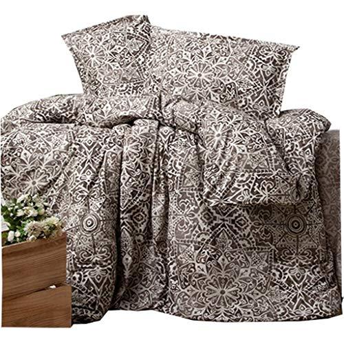 ZIRVEHOME Bettwäsche 240x220 cm, Verona V2, King Size, 100% Baumwolle mit Reißverschluss (Bettbezug Vollständige)