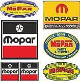 MG632 / 7x Aufkleber - Breite je Sticker ca. 6,5cm + 3cm Mopar Racing USA V8 Muscle Car Hot Rod Retro Vintage Oldtimer
