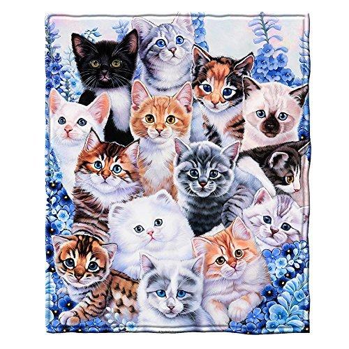 Dawhud Direct Kätzchen Collage Fleece Überwurf Decke von Jenny Newland Collage Fleece