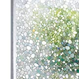 Homein 3D Fensterfolie Selbsthaftend Sichtschutzfolie Blickdicht Klebefolie Dekorfolie Fensterfolie Statisch Selbstklebend ohne Kleber Window Film mit Motiv Anti UV Farbig Kiesel 90 x 200 cm