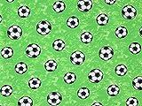 Baumwolljersey Soccer grün, Meterware ab 0,5 m/Top-Qualität/Öko-Tex 100