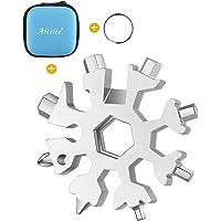 Aitsite 18-in-1 Multi-Tool Snowflake Multi attrezzo Multi attrezzo in acciaio portatile per viaggi in campeggio (Argento…