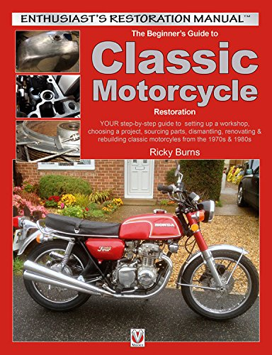 Beginners Guide to Classic Motorcycle Restoration: Your Step-by-Step Guide to Setting Up a Workshop, Choosing a Project, Dismantling, Sourcing Parts, ... & 1980s (Enthusiasts Restoration Manual) por Ricky Burns