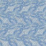 Fabulous Fabrics Jeansstoff Chambray Blätter Lasercut -