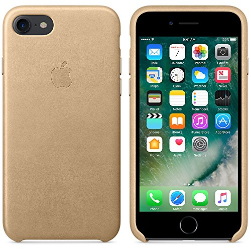 Apple Leather Back Cover Case for iPhone 7 - Tan