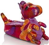 Snuggles Clothing - Zapatillas de estar por casa para niña Rosa Pink Dragon