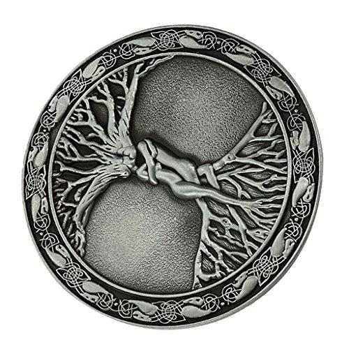 Homyl Vintage Böhmischem Stil Gürtelschnalle Baum Des Lebens Stil für Herren - Geschenk Männer - Metallisch, 8cm (Griechisch-gürtelschnalle)