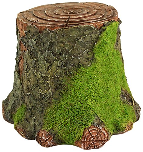 Top Collection Miniatur-Fairy Garden und Terrarium dekorativer Mossy Baumstumpf Display Riser (Figur Bunny Tiny)