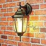 Rustikale Wand Außenleuchte 'Lyon' in antik hängend E27-Fassung Wandlampe mit IP44 Schutz...