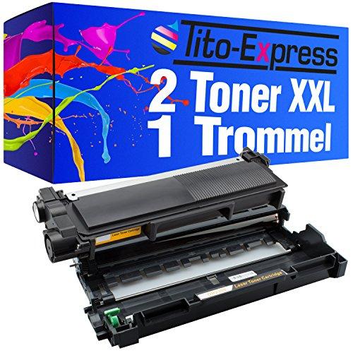 Tito-Express PlatinumSerie 1 Trommel & 2 Toner XXL kompatibel mit Brother DR-2300 & TN-2320 | Geeignet für DCP-L2500D L2520DW L2540DN L2560CDN L2560CDW L2560DN L2560DW L2700DW