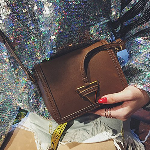 Weibliche Schulter kuriertasche kleine quadratische paket Dreieck dekoration paket hellbraun