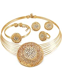 Dolly Jewels Traditional Designer Awesome Necklace Set With Ring,Earrings & Bracelet For Women,Girls