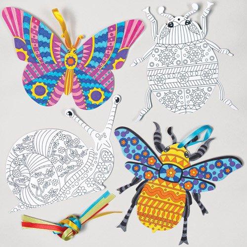 insectos de primavera para colorear