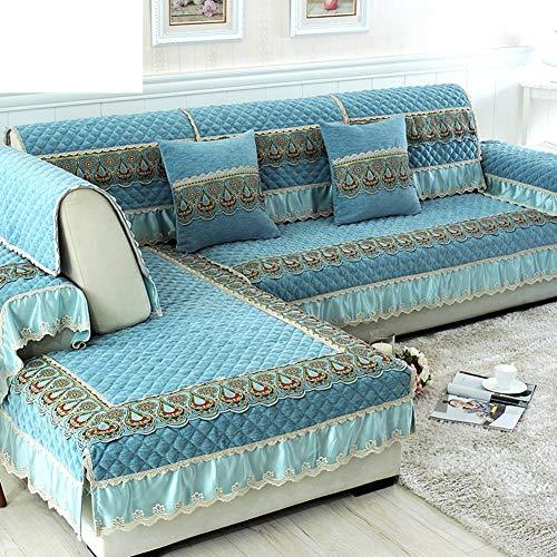 Coussin de canapé Tissus Coussin de canapé en coton à glissière Simple moderne Four Seasons Universal canapé en similicuir-E 110 x 110 cm (43 x 43 po)