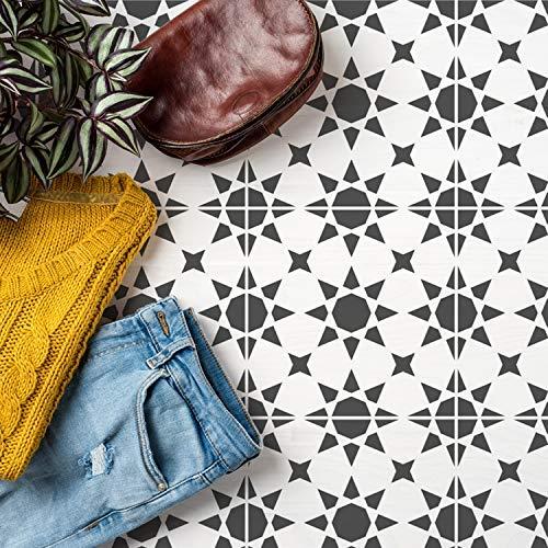 Agadir Kachel Muster Schablone, Wandfarbe, Bodentypen, Möbel, Marokkanische Kachel Wohndeko, Wiederverwendbar Geometrisch Malerei Schablone - L/30X30CM