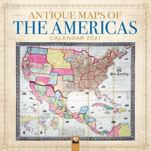 Antique Maps of the Americas Wall Calendar 2021 (Art Calendar)