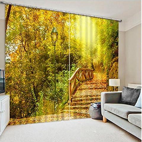 GYMNLJY 3D stereo fiori e paesaggi personalizzati tende Home Decor
