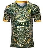 CRBsports Équipe Afrique du Sud, Springboks, 7s, Maillot De Rugby, Nouveau Tissé Brodé, Swag Sportswear (Vert, L)