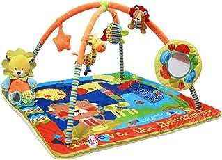 Zacac - Palestrina multifunzionale per bambini, tappetino con supporto musicale, baby attività ,modello foresta arcobaleno