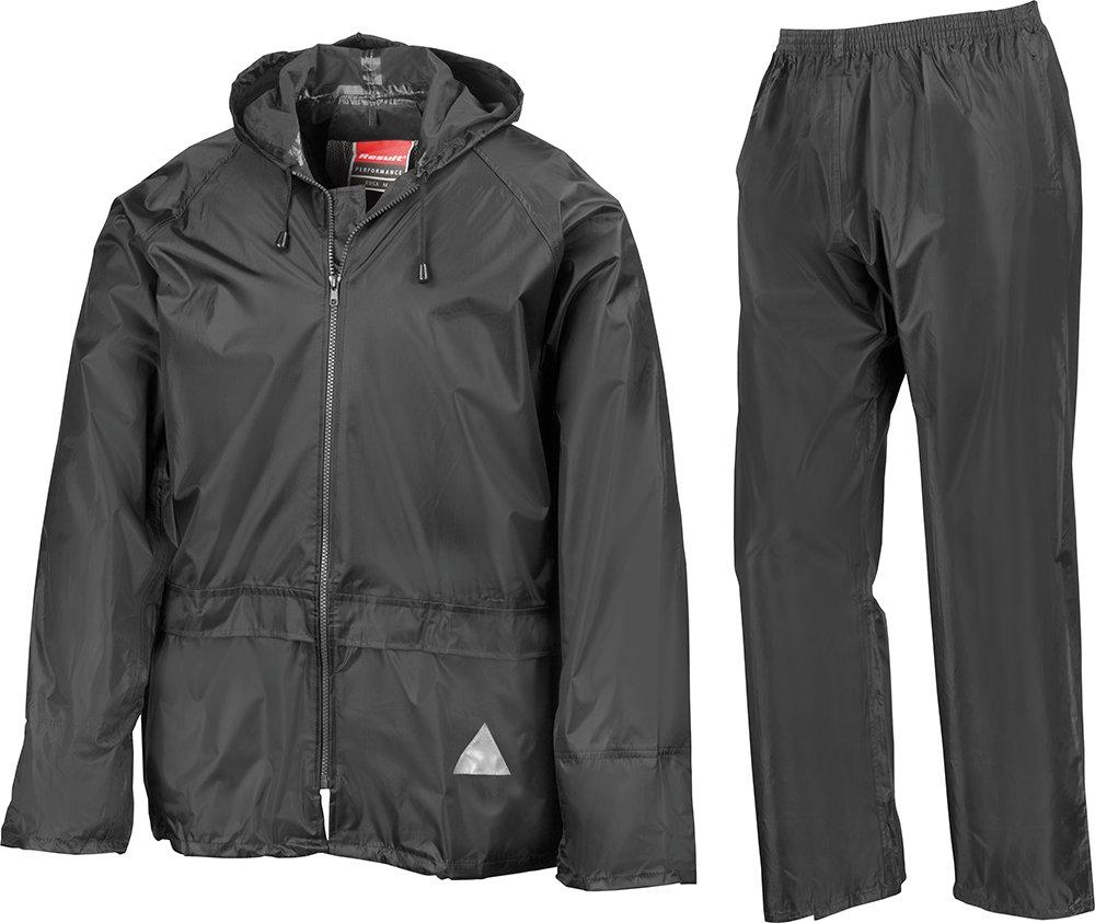 Result Heavyweight Waterproof Jacket/Trouser Suit Adult Windproof Coat/Pants Set