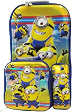 CLOUD 9 ABS Plastic Cartoon Character Printed 40cm Pink Trolley Bag - Set of 3 Pieces