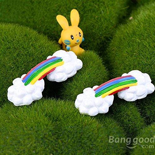 mark8shop DIY Craft Landschaft Rainbow Bridg Topfpflanzen GARTEN Decor