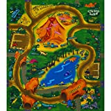 Unbekannt Spielteppich Straßenteppich 70 x 80 cm Dinosaur