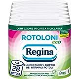 Rotoloni Regina Eco Carta Igienica   Confezione da 28 Rotoli a 2 veli   500 strappi per rotolo   Bianca e Decorata…