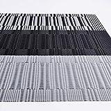 Racksoy Tischset Platzdeckchen (8er Set) Umweltfreundlich PVC Platzsets, Waschbare hitzebeständige Wasserdichte Tischmatte, schwarz, für Esszimmer, Küche, Raumdekoration - 7