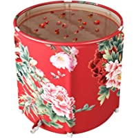Riosupply Baril de bain pliable pour adulte, baignoire pliable, portable
