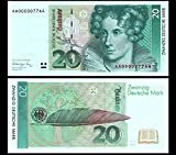 *** 2 Stück 20 Deutsche Mark Geldscheine 1991 Alte Währung - Reproduktion ***