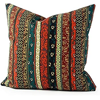 Lavievert Ethnic Style Housewares Pillow Cover Canvas Fabric