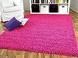 Hochflor Langflor Shaggy Teppich Aloha Pink Rosa Flieder - Sofort