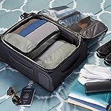 AmazonBasics Kleidertaschen-Set, 4-teilig, 2 mittelgroße und 2 große Kleidertaschen, Grau - 7