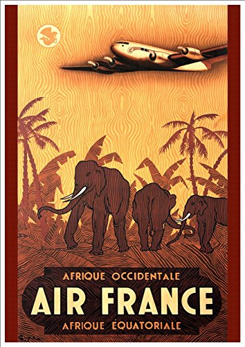 air-france-africa-wonderful-a4-glossy-art-print-taken-from-a-rare-vintage-travel-poster