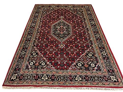 WAWA TEPPICHE Orientteppich Bidjar 200X300 cm Handgeknüpft ROT Cream Teppich~ 100% Wolle - 200 Wolle Orientteppiche