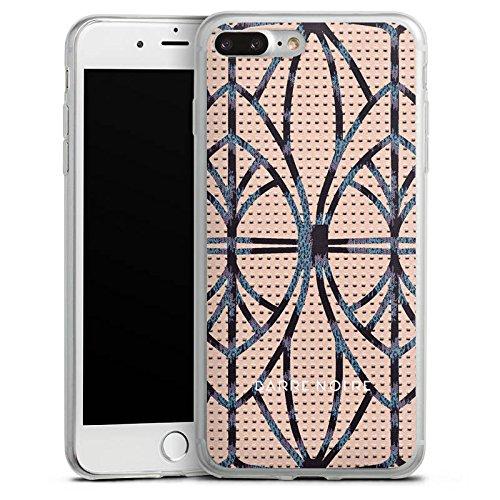 Apple iPhone 8 Slim Case Silikon Hülle Schutzhülle Leder Look Leo BARRE NOIRE Silikon Slim Case transparent