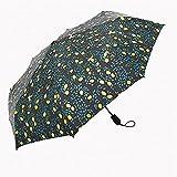 GUO Blatt-Faltender Reisesonnenschirm Sunblock UV-Schutz + Regen Beständiger Kompakter Größen-Sonnenschirm-Falten in Geldbeutel