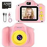 Cámara para Niños Infantil Cámara de Fotos Digital Cámara Juguete para Niños 2 Pulgadas 12MP 1080P HD Selfie Video Cámara Reg