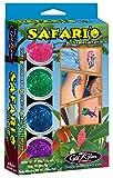 Kit de tatuajes de purpurina Safari'O - Arte corporal con animales de Safari, zoológico y de la selva - GlitZGlam - amazon.es