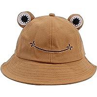 crazy bean Cappello da Pescatore Carino Rana Cappello Pescatore Pieghevole Bucket Hat Cotone Creativo Pieghevole…