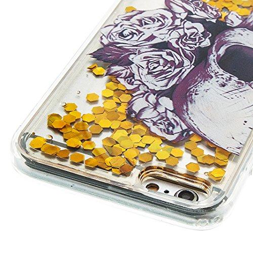 iPhone 6 PLUS Hülle OuDu Silikon Funkeln Schutzhülle [Flüssig Hülle] Transparente Flexibel Schlank Hülle **NEW** Treibsand Bling Hochwertiges TPU Abdeckung Glatte Leichte Tasche Soft Silicone Case Cov Liebe des Todes