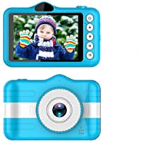 Digital Camera Front and Rear Video Camera 4 Inch Screen HD 1080P Video Recorder Camcorders for Kids (Blue)- Jimwey Jicson J30