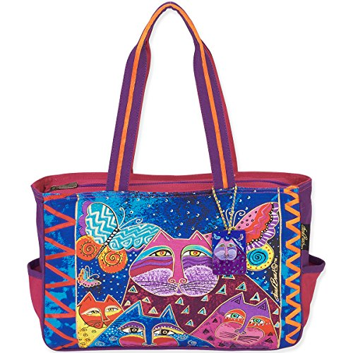 laurel-burch-laurel-burch-medium-tote-15-by-4-by-10-inch-cats-with-butterflies