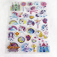 Unicorn Assorted Vinyl Puffy Stickers - 2 Designs Available 1 Sent at Random