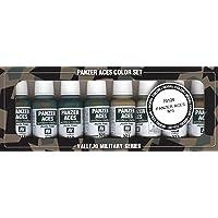 Vallejo val899 Peinture Model Color Panzer Aces N ° 3 Peinture acrylique – Couleurs assorties (Lot de 8)