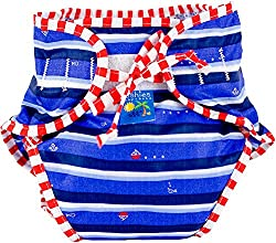 Kushies Baby Unisex Swim Diaper, Ahoy Print, Small